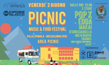Pic Nic Festival: il 2 giugno a Villa Spinola, il primo pic nic dell'estate con Pop X, Edda, Makai