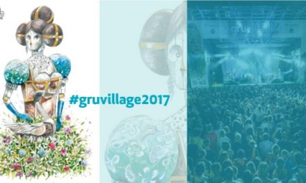 PIXELPANCIO firma dipinto e art-movie di GruVillage Festival 2017