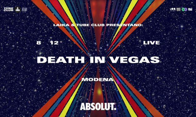 I Death in Vegas tornano in Italia, per un'unica data al Tube Club di Modena