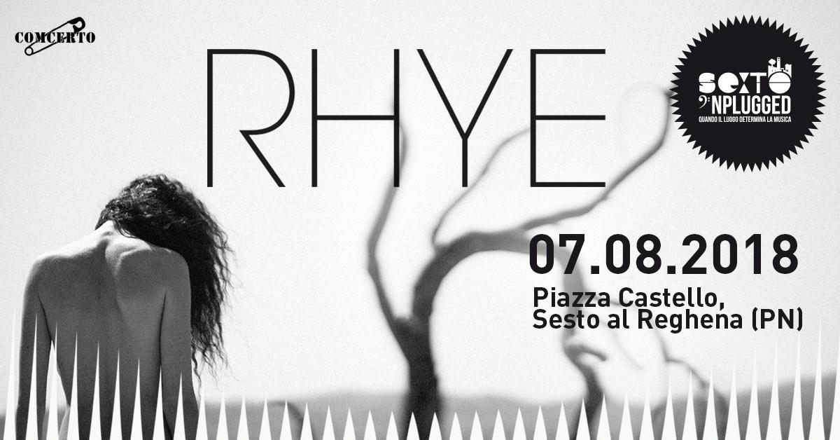 Sexto 'Nplugged: Il live esclusivo di RHYE chiude la rassegna 2018