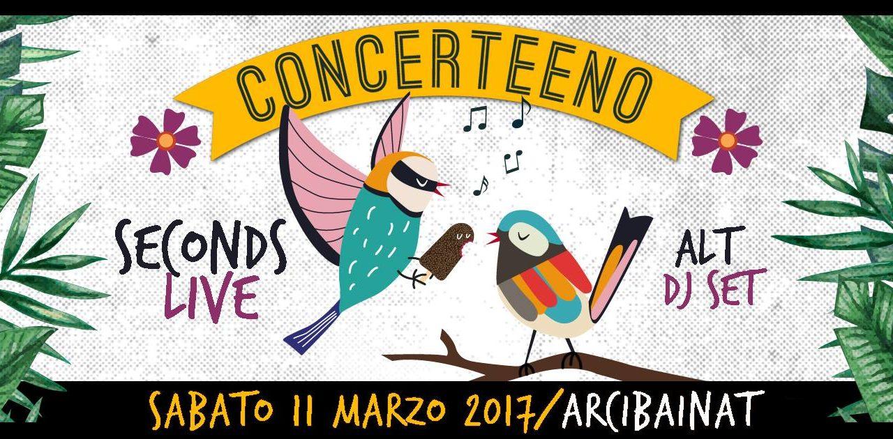 Torna Concerteeno e la musica live al Bainait. Arrivano i SECONDS.