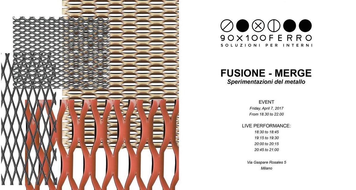 90X100FERRO protagonista di FUSIONE-MERGE in Brera Design District