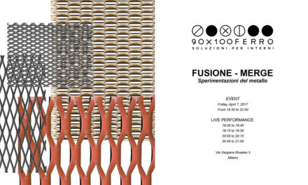 90X100FERRO protagonista di FUSIONE-MERGE in Brera Design District